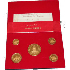 Burundi, 1967 - Proof Gold Coin Set