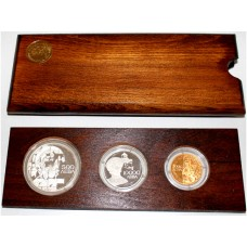 Bulgaria 1993, Proof Set consist of a Gold coin...