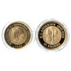 Denmark 2005, 10 Kroner - Proof Gold Coin