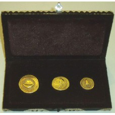 Fiji 1990, Gold Set, complete 3 piece Gold Set