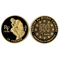 France 1996, 500 Francs -75 Euro, 1996 Proof Gold Coin
