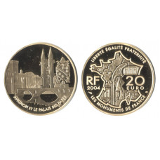 France 2004, 20 Euro,  Proof Gold Coin, Historical Buildings