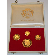 Gabon 1960 , 4 Coin Proof Gold Set