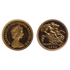 Great Britain 1982, Half Sovereign