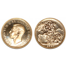 Great Britain 1937, 2 Sovereign, King George VI, Proof