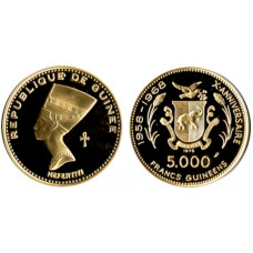 Guinea, 5000 Francs Proof Gold Coin