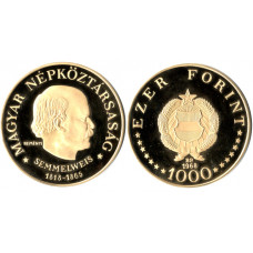 Hungary 1968, 1000 Forint, Proof Gold Coin