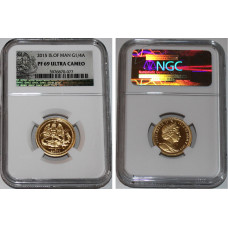 Isle of Man 2015, 1/4 Angel, Proof Gold Coin, in Capsuel of NGC