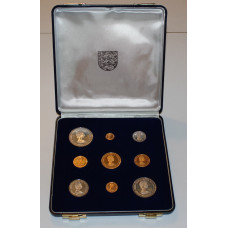 Jersey 1972, Proof Gold & Silver Set, 25th. Royal Wedding Anniversary, Queen Elizabeth and Prince Philip