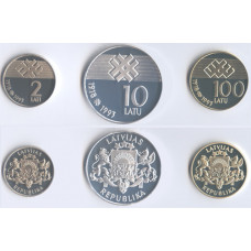 Latvia 1993, Proof Set