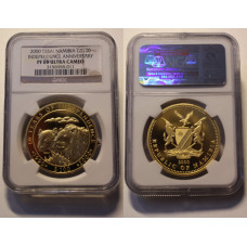 Namibia 2000, 100 Dollars, Proof Essai  in Gold