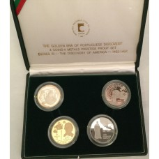 Portugal 1991/92, Series III Prestige Proof Set - Gold, Platinum, Palladium and Silver