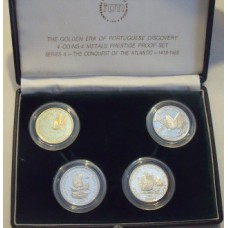 Portugal 1989 /90, Series II, Prestige Proof Set, the Conquest of the Atlantic
