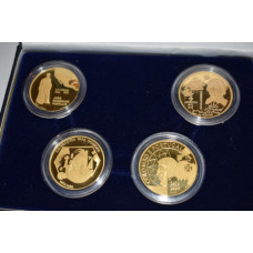 Portugal 1992, 4x 200 Escudos Proof Goldcoins Discovery Set Series III in perfect Proof Condition