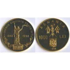 Romania 1998, 1000 Lei, Proof, 150th Anniversary Revolution 1848