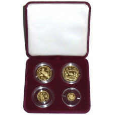 Russia 1994, Proof Wildlife Set  - 4 Gold Coins in perfect proof condition