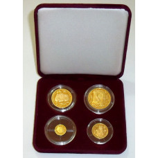 Russia 1993, Moscow, Proof Gold  Protect our Wildlife, Set