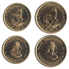 South Africa 1964, Set of 2 Rand and 1 Rand