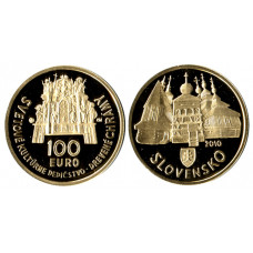 Slovakia 2010, 100 Euro Proof Gold Coin
