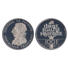 France 1987, 100 Francs, Proof, 230th Anniversary...