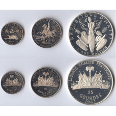 Haiti 1967, Haiti Silver- Proof Set