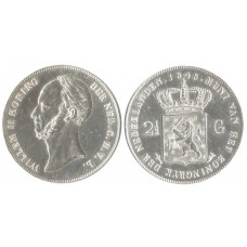 Nederland 1848, 2-1/2 Gulden, William II, King of Nederland