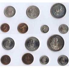 South Africa 1985, Short Proof Silver Set